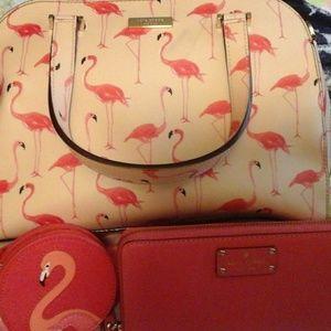Kate Spade Authentic Flamingo Pink 3 piece set